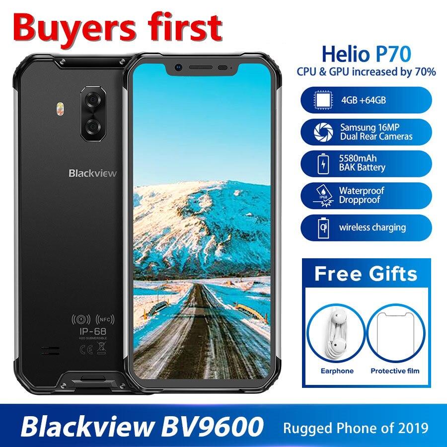 Купить 2019 Новый Blackview BV9600 IP68 водонепроницаемый мобильный телефон Helio P70 Android 9,0 4 Гб + 64 Гб 6,21