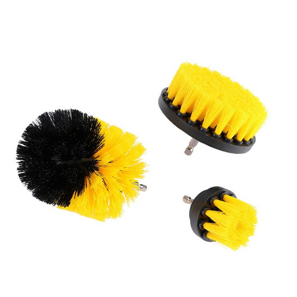 3pcs set Power Scrubber Brush Kitchen Bathroom Clean Drill Brush Surfaces Tub Sink Shower Tile Grout Cleaner Home Cleaning Tools in Cleaning Brushes from Home Garden
