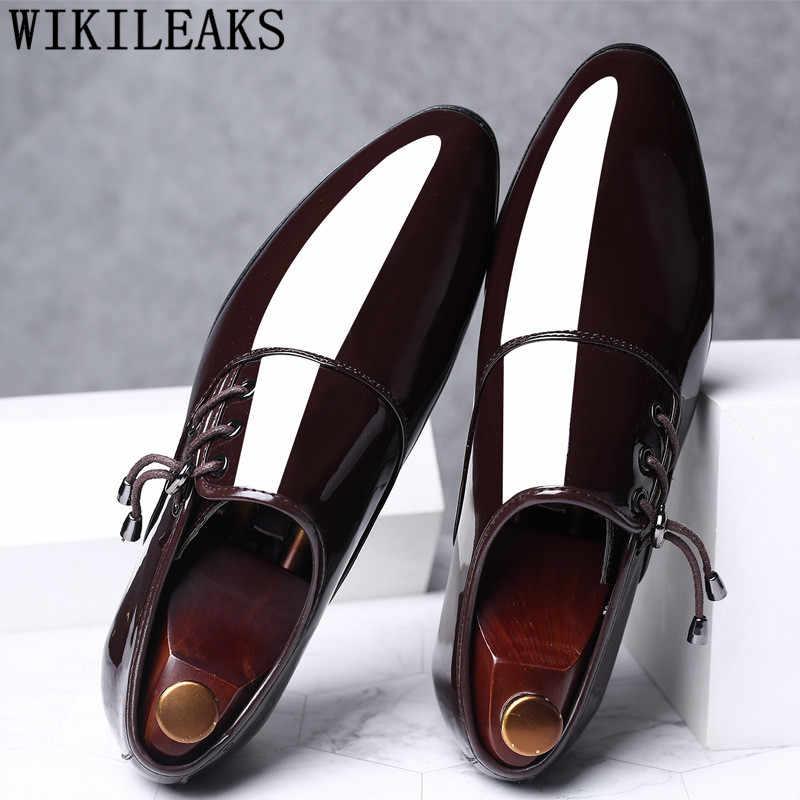 2019 oxford รองเท้าสำหรับผู้ชายรองเท้าหนังงานแต่งงานชุดรองเท้าผู้ชายรองเท้า zapatos de hombre de vestir อย่างเป็นทางการ sapato สังคม