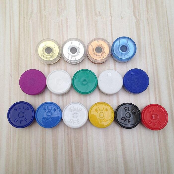 13mm Abdichtung Abdeckung Für Einfrieren-getrocknete Pulver Reagenz Flasche, Aluminium Kunststoff Verbund Abdeckung 100% Garantie