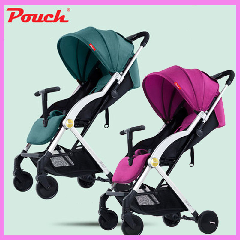 Pouch Ultra Lightweight Can Sit Lie Baby Stroller Portable Four Wheels Umbrella Folding Baby Carriage Pram Children's Trolley poussette pliante portable umbrella stroller lightweight folding stroller can sit or lie folding baby stroller children prams