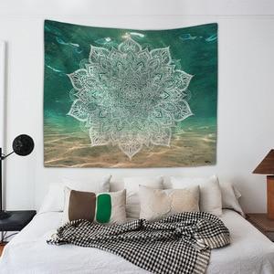 Image 3 - Mandala Hand of Fatima Printing Wall Tapestry Hanging Beach Towel Boho Dorm Decor Home Witchcraft Celestial Sun Moon Blanket