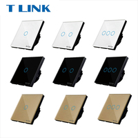 TLINK Touch Switch EU Standard 1 Gang 1 Way Black Gold White Wall Light Touch Screen