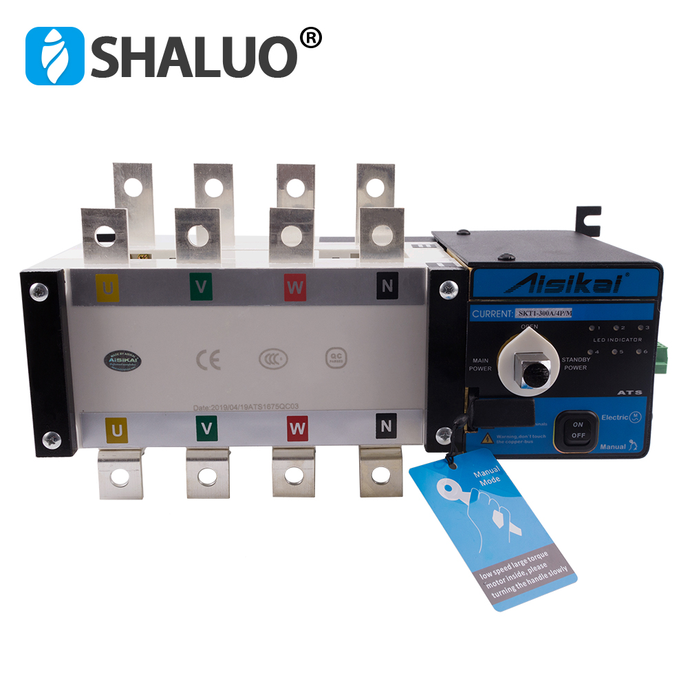 250A 300A 4P ATS controller dual power automatic transfer switch parts 220V 380V electric diesel generator