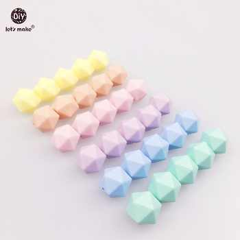 Let\'s Make Wholesale 500pc Silicone Beads Faceted Beads Candy Color Food Grade Silicone Teether DIY Accessories Teether 14mm - DISCOUNT ITEM  16 OFF Mother & Kids