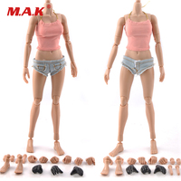 1 6 Female Body Super Flexible Action Figure Asian Skin European Tan Color Large Middle Breast
