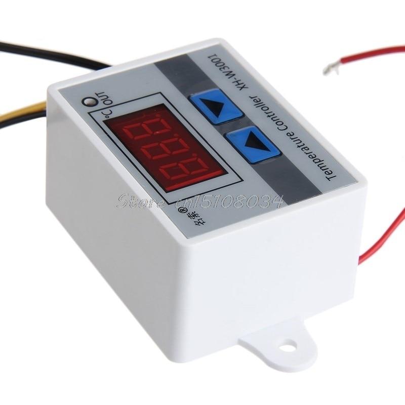 220 V Cyfrowy regulator temperatury LED 10A Termostat Przełącznik - Przyrządy pomiarowe - Zdjęcie 3