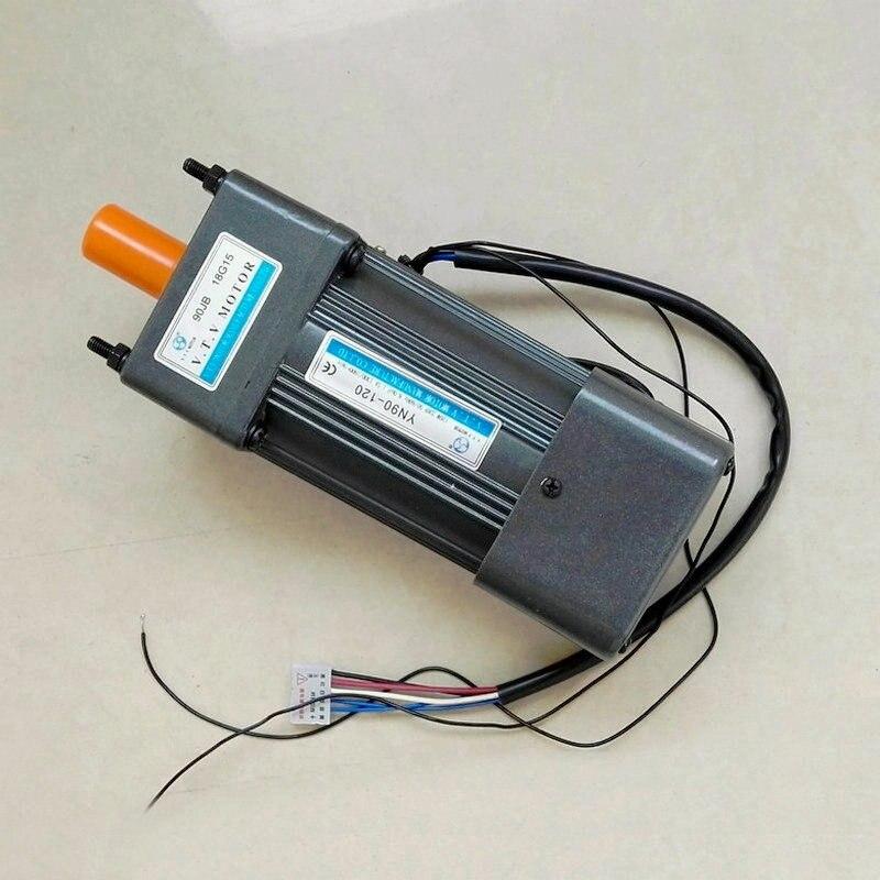 Vtv одной фазы электродвигатель переменного тока редуктор yn90 60 Вт 120 Вт низкая скорость мотор 220 В с коробкой передач