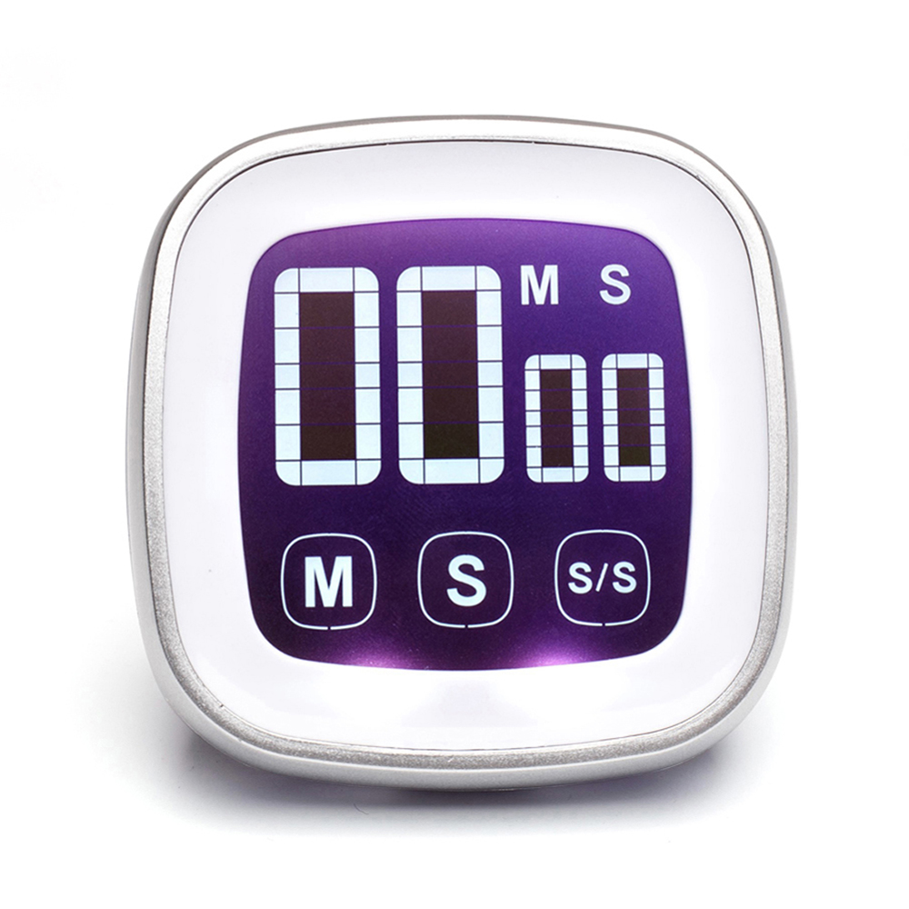 Touch Screen Digital Køkken Cooking Timer med Magnet Count Up Countdown Time Reminder Alarm 99minute: 59second