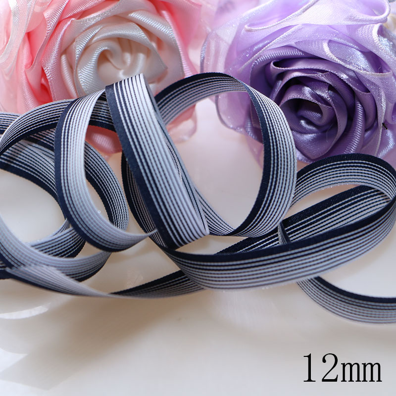 5 yards lot 1 39 39 12mm Blue and White Stripes grosgrain ribbon printed gift wrap ribbon decoration ribbons in Ribbons from Home amp Garden