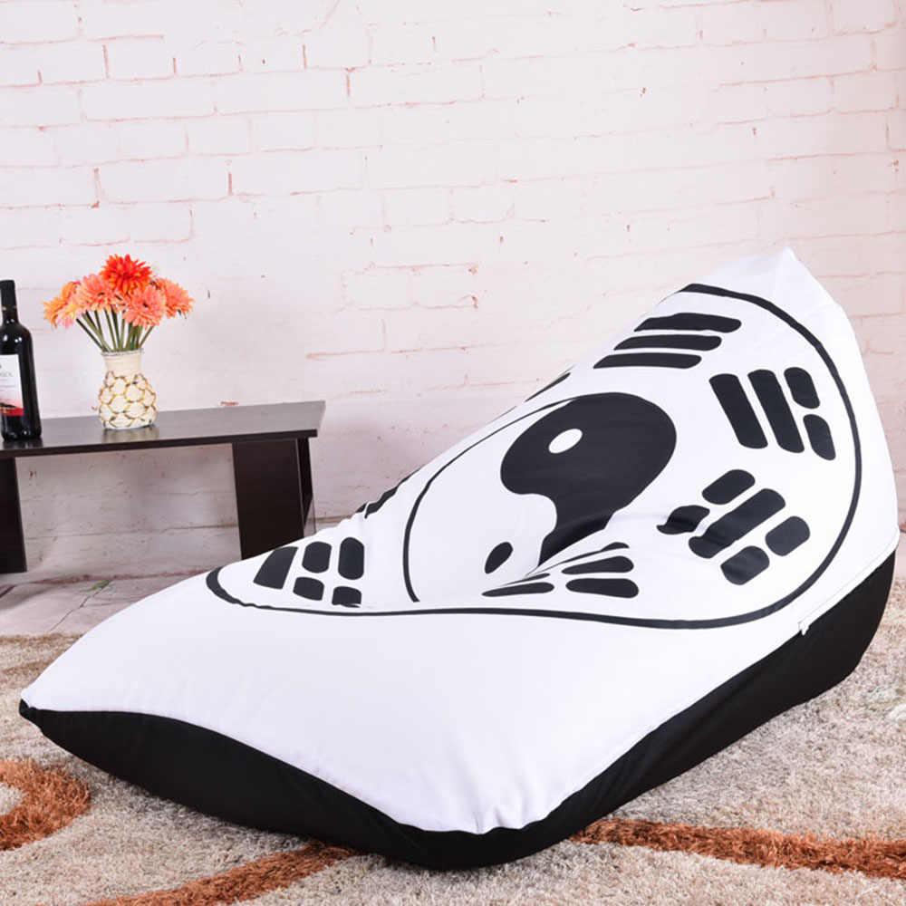 LEVMOON Beanbag диван восемь диаграм подушечка на сиденье комфортная Bean сумка покрывало кровати без наполнения хлопок Крытый Beanbags кресло для отдыха