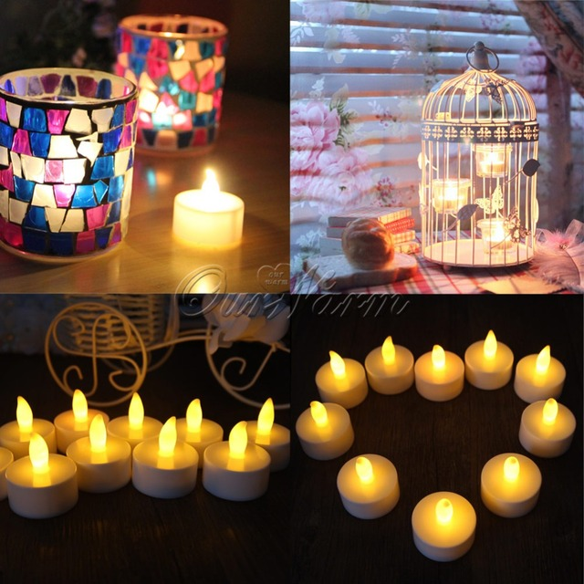 12pcs/lot Led Candle Light Flameless Candle Lights for Wedding Decoration Valentine's Day Party Decorations Home Decor