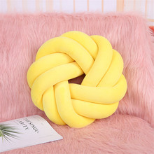 Baby Sleep Knot Pillow Hand-woven Cushion Adult Office Waist Back Cushion Baby mat Photo Decoration Background Knot Cloud V168(China)