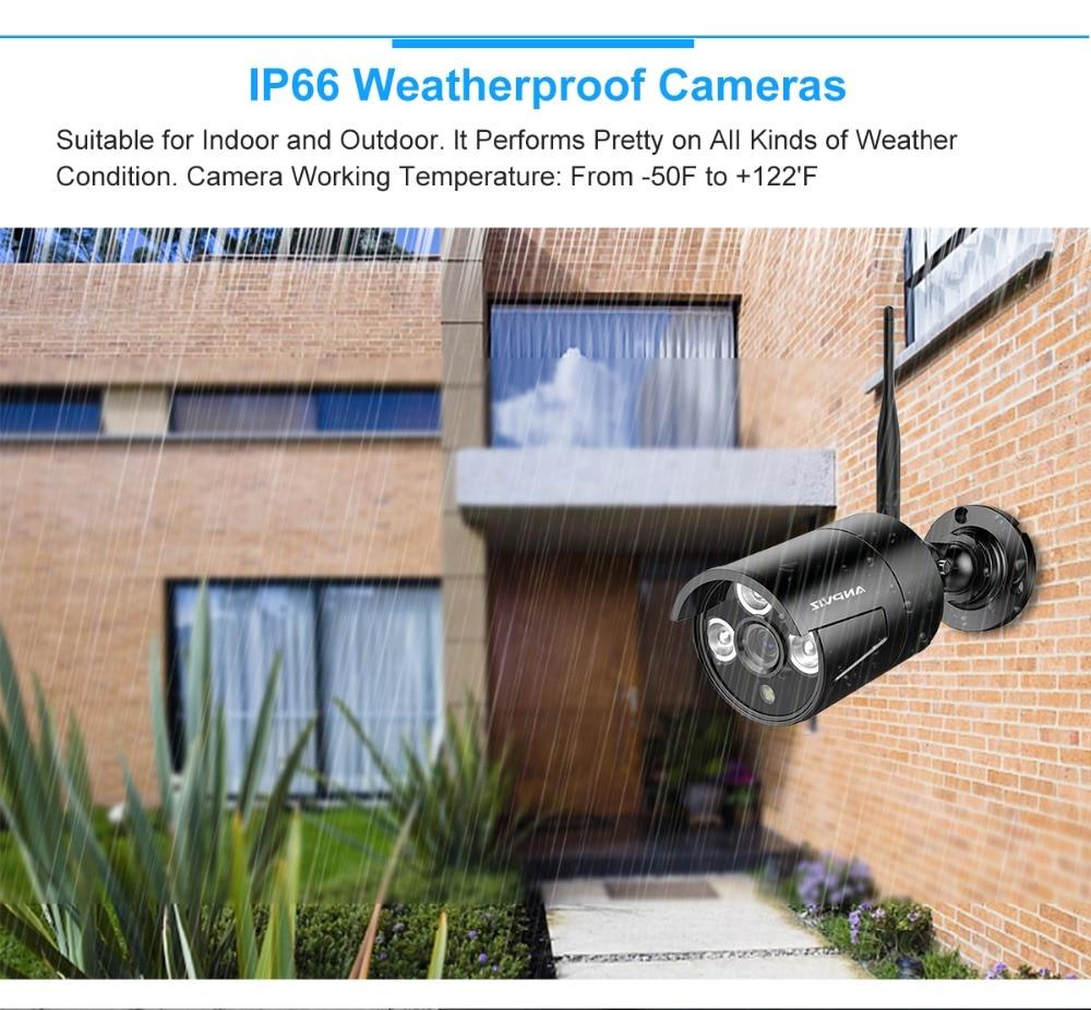 US $430 62  Anpviz 8CH 1080P Wireless NVR Kit CCTV Camera System 8Pcs 960P  Outdoor WiFi Bullet IP Camera P2P Video Surveillance System-in Surveillance