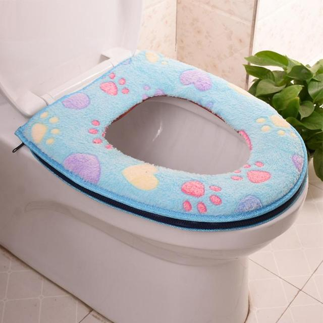 Carino Cerniera Copertura Toilet Seat Cover Caldo Top Scaldino Lavabile Bagno Wc