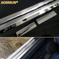 Freeshipping Nissan Qashqai Stainless Steel Scuff Plate Door Sill 4pcs Set Car Accessories For Qashqai