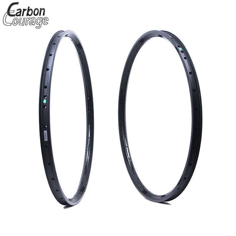 26er XC Hookless 26 pouce VTT Carbone Jantes 30mm Largeur UD 3 k Mat Brillant 24 H 28 H 32 H 26 Tubeless Compaitble Mamelons Externes