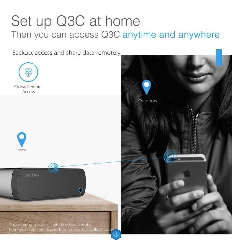 Здесь можно купить  Smart airdisk Remote access Network  Enclosure Build your Own NAS Storage and DIY Personal Cloud (Non include the  disk)  Бытовая электроника