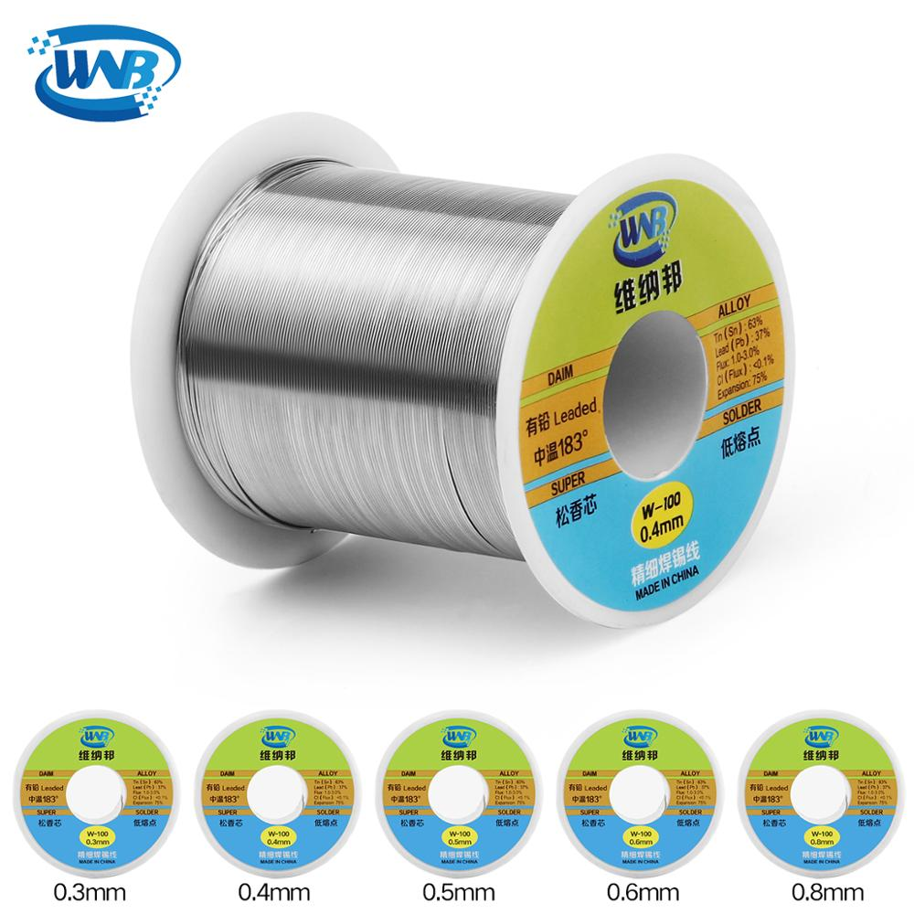 WNB Professional 0.3/0.4/0.5/0.6/0.8mm 120g 63%/37% Rosin Core Tin Lead Solder Wire Soldering Welding Flux 2.0% Iron Cable Reel