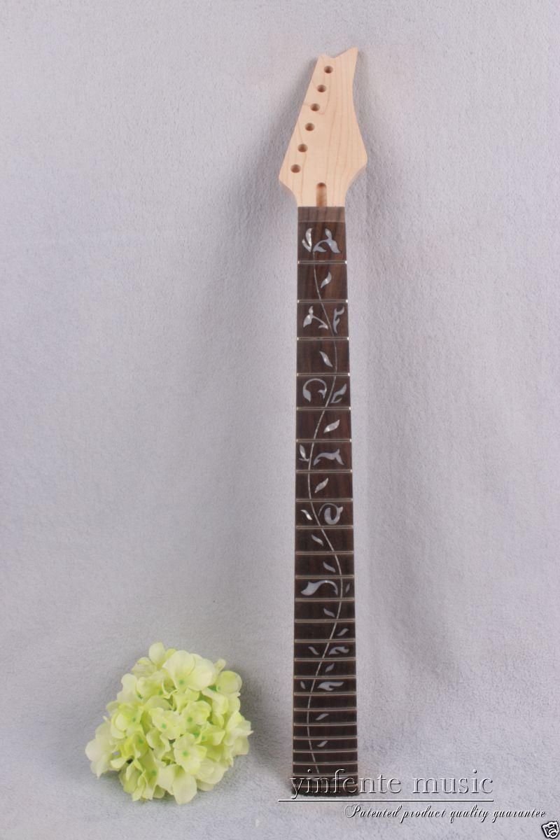 1pcs electric guitar neck maple wood 24 fret 25.5'' rose wood Truss Rod new #734 new electric guitar neck maple 24 fret 25 5 truss rod unfinished no frets nice
