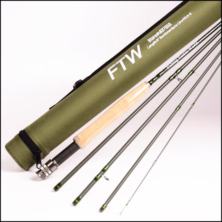fishing tackle world 5 sections travel fly rod 9' wt5 wt6 2m long 6 sections fishing rod for fishing enthusiast