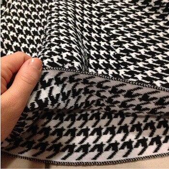 2019 Spring Autumn New Women Skirt Knitting Woolen Midi Skirt Ladies High Waist Casual Pleated Elastic Flared Skirts Womens 5