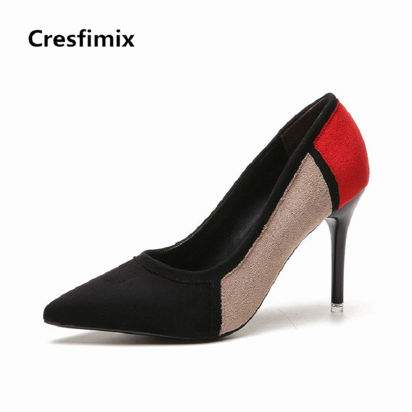 Cresfimix zapatos de mujer women casual high quality high heel shoes lady sexy party multi color high heels female cute shoes cresfimix zapatos de mujer women casual spring