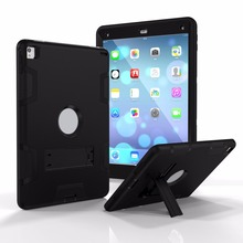 Cover Case Suitable For iPad Mini 3 2 1 Shockproof Heavy Duty Silicone Hard Case Cover with Screen Protection Film & Stylus
