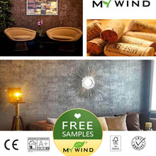 Free sample 20x10cm MY WIND Cork Wallpapers Luxury 100% Real Natural Material Safety Innocuity 3d Wallpaper In Roll Home Decor