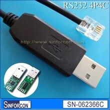 Cable usb para Remeha CV kete oa tipo Mazra, conector USB cp2102 rs232 a rj10, 4p4c RJ10