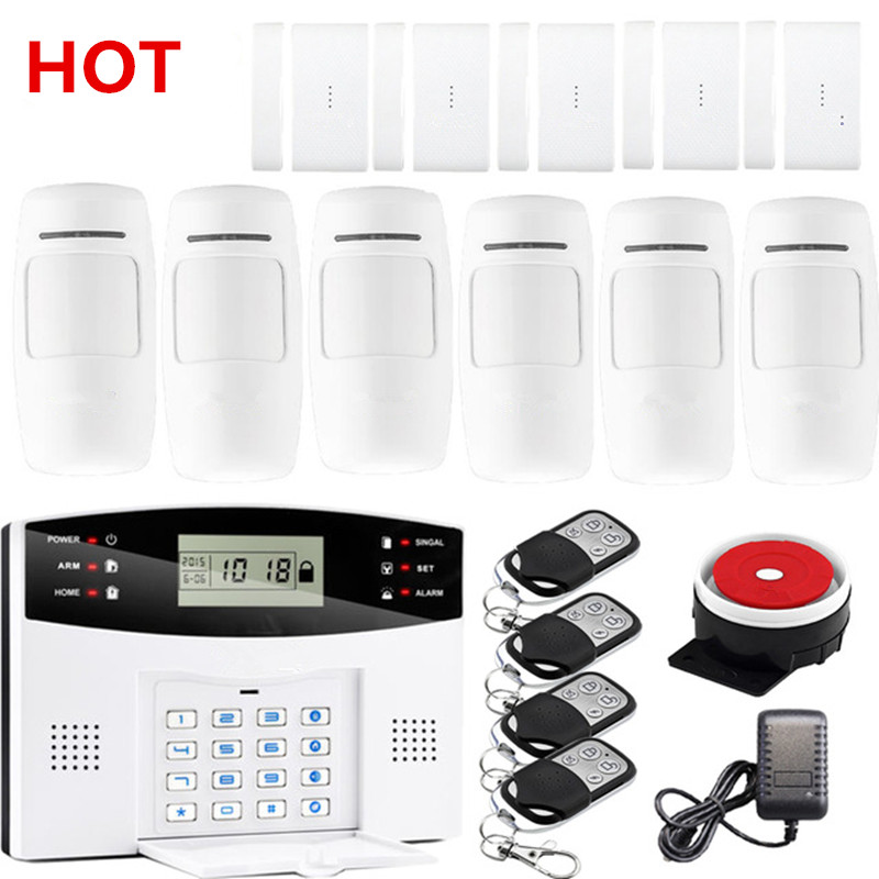 GSM Alarm System Support IOS And Android APP Support Control Wireless Two Way Intercom SMS Notice Alarm System For Home