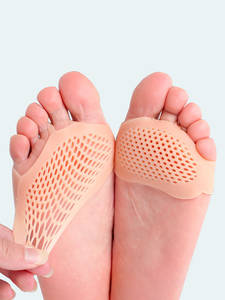 USHINE Insole Silicone Gel 1-Pair Forefoot-Pads Soft-Protector Pain-Relief Elastic Breathable