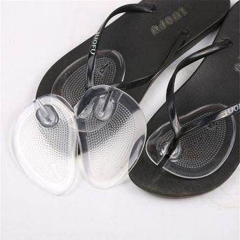 1Pair Anti-slip Transparent Flip flops insoles high heel shoes pad super soft insole Non Slip Sponge Cushion Foot Heel Protector