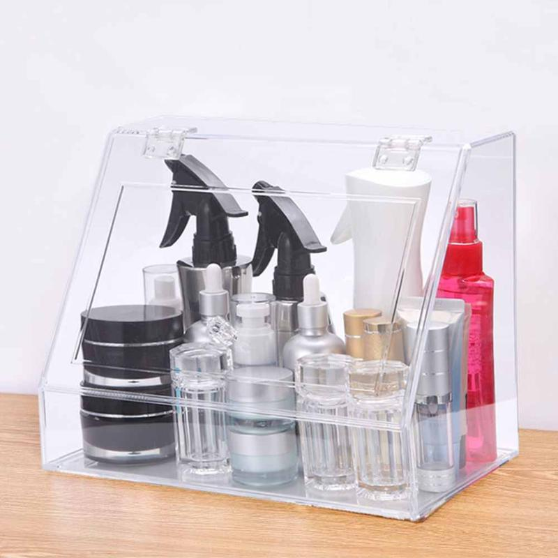 Empty Transparent Desktop Makeup Storage Box Home Lipstick Cream Holder Organizer Home Office Holder Container