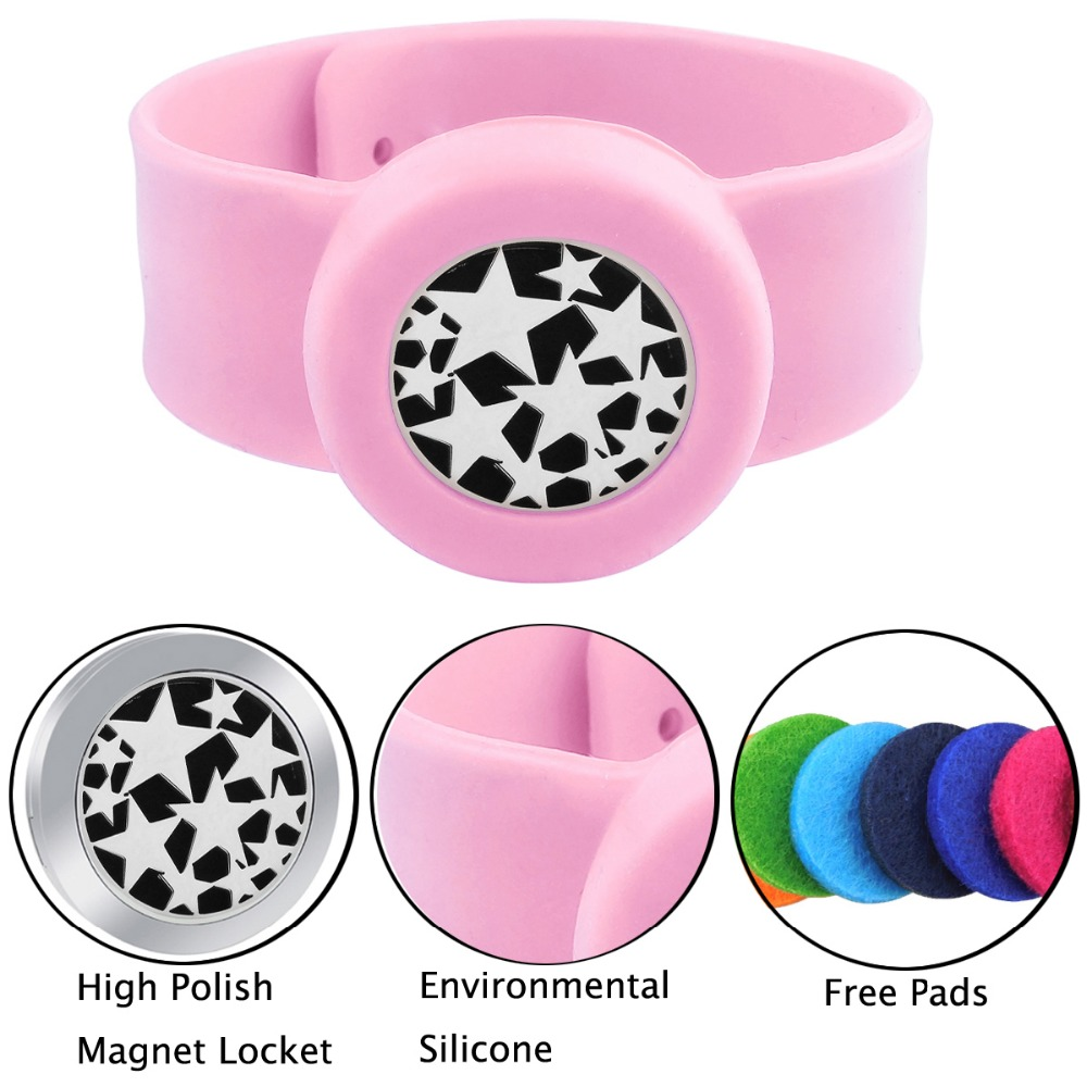 ZP-BS910-0 Silicone Diffuser Locket Bracelet-5
