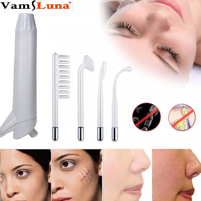 High Frequency Facial Machine Portable Handheld Wrinkles Remover Tightening Acne Spot Beauty Therapy Puffy Eyes Body Care