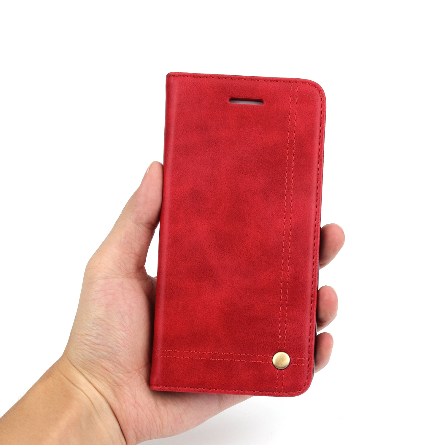 Cell Phone Case <font><b>For</b></font> Apple <font><b>iPhone</b></font> <font><b>6</b></font> <font><b>Plus</b></font> 5.5inch PU Leather Cover Retro Crazy Horse Flip Case Mobile Phone Bag <font><b>For</b></font> <font><b>iPhone</b></font> 6S <font><b>Plus</b></font>