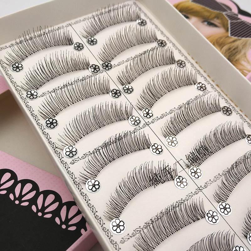 10 pairs Natural False Eyelashes Soft Fake Eye Lashes Long Eyelash Extension Kit Makeup Wispy Eye Lashes Fake Eyelashes L08