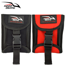 1 PCS Diving Bag Two Sides Open Up Scuba Weight Belt Pocket Buckle Accommodate 3KG/6lb of Lead