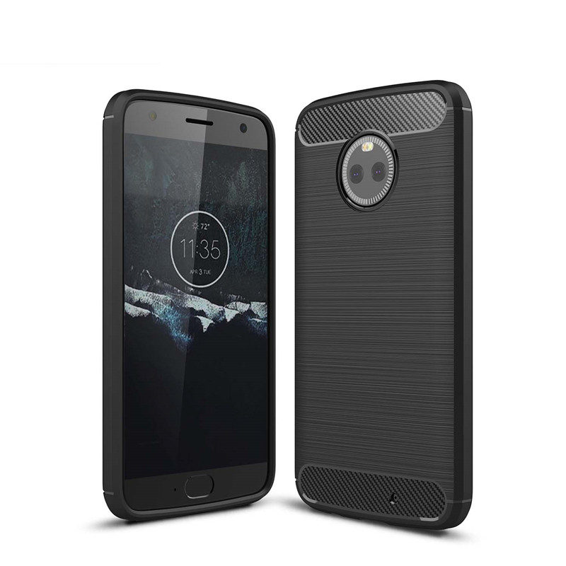 For Motorola X4 case Carbon Fiber Soft TPU Drawing Back Cover For Moto Z Z2 G4 Play Z Z2 Force Silicone case For Moto E3 G3