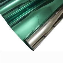 цена Green Silver one way Solar mirror Window Film Glass sticker Reflective Privacy Film Home Decorative Film For Tint Office Kitchen онлайн в 2017 году