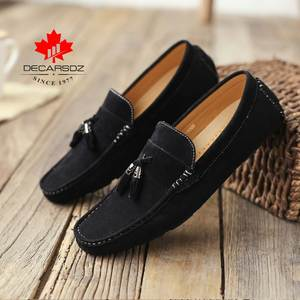 Men's Casual Shoes Men Suede Loafers 2020 Fashion Moccasins Slip-On Casual Men's Shoes Male Autumn New Outdoor Comfy Boat Shoes
