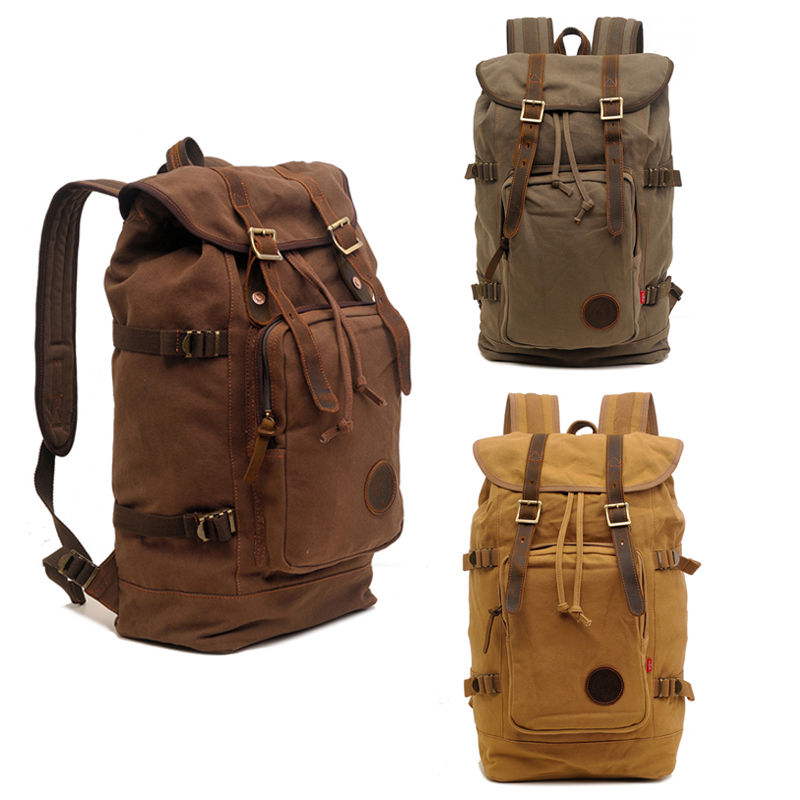 Canvas Vintage Backpack Fashion Rucksack Bookbag Rucksack Daypack Leisure College Bag Travel School Bags Laptop Computer Bags men canvas 15 inch notebook backpack multi function travel daypack computer laptop bag male vintage school bags retro knapsack