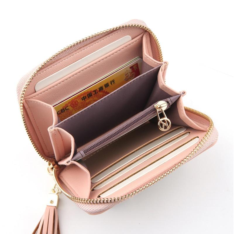 Women Wallet Female Money Pocket Square Tassel Design Zipper Letter Coins Purse Card Holder Small Women Bag Fresh Girls New