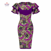 Plus Size new africa dashiki o-neck dress Women traditional african clothing  knee-length sexy african cotton dresses 4xl WY2324 5a6c6cf8cf0a