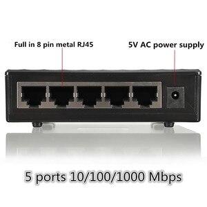 Image 5 - 10/100/1000Mbps Network Switch 5 Ports Mini Gigabit Switch Ethernet Switch Network Switch Hub Plastic Smart Adapter