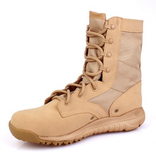 купить Tactical Boots Men Light Weight Outdoor Hiking Shoes Men Desert High-top Military Combat Army Boots Militares Sapatos Masculino онлайн