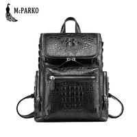 Luxury Crocodile backpack men Genuine leather alligator skin laptop backpack High end bag men bagpack Fashion street bags punk
