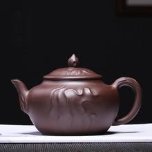 PINNY 300ml Yixing Purple Clay Yi Cloud Teapot Ceramic Zisha Tea Pot Chinese Kung Fu Service Vintage Sand Crafts