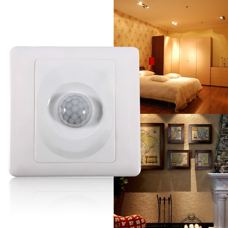 Room Sensor Light Switch: Infrared IR Body Motion Sensor Auto Wall Mount Control Led Light Switch  Save Energy Motion Automatic,Lighting